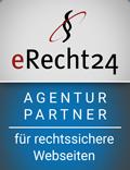 erecht24 siegel agenturpartner blau - Bildnachweis