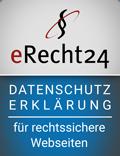 erecht24 siegel datenschutzerklaerung blau - Datenschutzerklärung